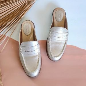 NEW Sperry Seaport Fina Mule Loafers in Rose Gold
